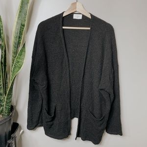 • ANTHROPOLOGIE X EVERLY • black knit cardigan